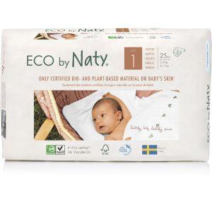 """Органические подгузники """"ECO BY NATY"""", Diapers 1 New Born, Eco by Naty, размер 1 New Born, 2-5 кг, 25 шт"""
