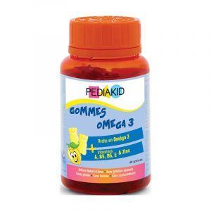 Омега 3 для дітей, (Radiergummis Omega 3), Pediakid, 60 жувальних цукерок
