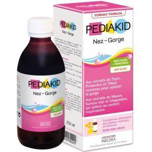 Сироп горло-ніс для дітей, (Nose Throat Family Size), Pediakid, 250 мл