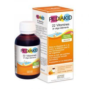 Мультивітаміни для дітей, сироп, 22 Vitamins & minerals, Pediakid, 125 мл
