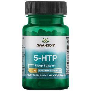 5-HTP (L-5-гидрокситриптофан, 5-HTP, Swanson, 200 мг, максимальная сила, 60 вегетарианских капсул