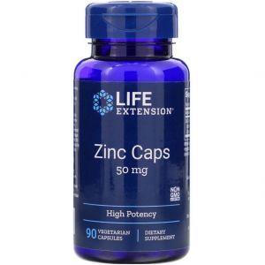 Цитрат цинка, Zinc Caps, Life Extension, высокоэффективный, 50 мг, 90 кап