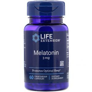 Мелатонин, Melatonin, Life Extension, 3 мг, 60 капсул
