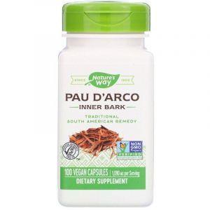 По д'арко, Pau d'Arco, Nature's Way, внутренняя кора, 545 мг, 100 капсул