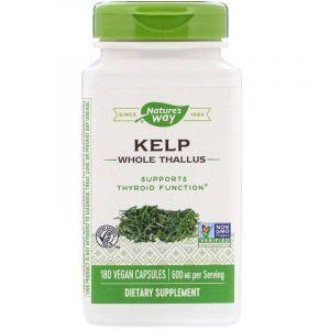 Ламинария, Kelp, Nature's Way, 600 мг, 180 капсул