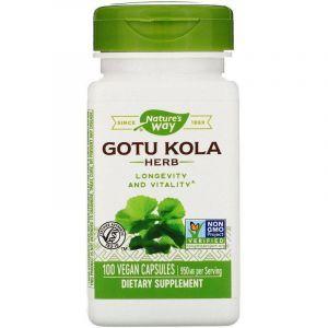 Готу кола, Gotu Kola Herb, Nature's Way, 475 мг, 100 кап.