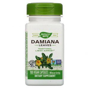 Дамиана, Nature's Way, 400 мг, 100 кап.
