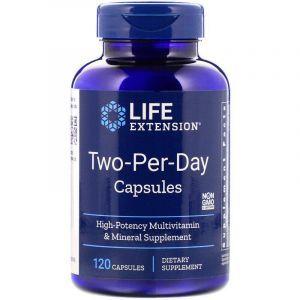 Мультивитамины, 2 в день, Multivitamin & Mineral, Life Extension, 120 кап