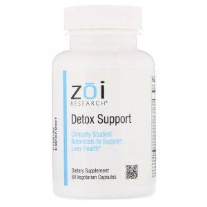 Выведение токсинов, Detox Support, ZOI Research, 60 капсул