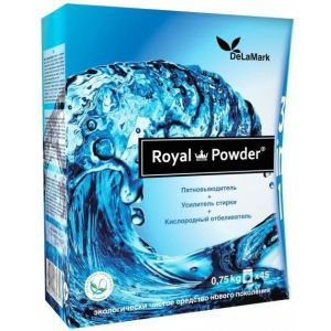 Кислородный отбеливатель, Royal Powder, 3 в 1, DeLaMark, 0,75 кг