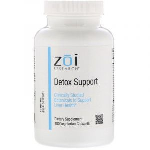 Выведение токсинов, Detox Support, ZOI Research, 180 капсул