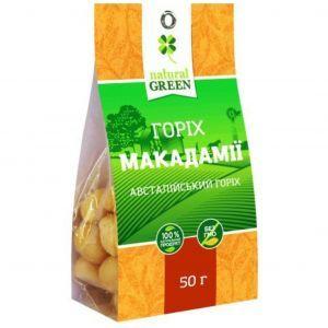 Орех макадамии (австралийский орех), NATURAL GREEN, 50 г