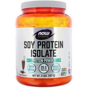 Изолят соевого протеина, Now Foods, Шоколад, Порошок, 907 г