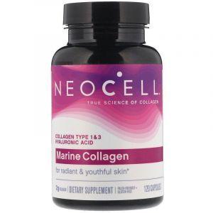 Морской коллаген и гиалуроновая кислота, Marine Collagen, Neocell, 120 капсул