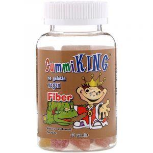 Пищевые волокна (жевательные), Fiber, Gummi King, 60 мармеладок