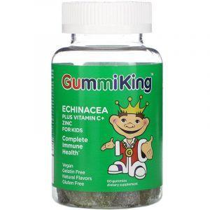 Эхинацея, витамин С и цинк (жевательный), Echinacea Plus Vitamin C and Zinc, Gummi King, 60 таблеток