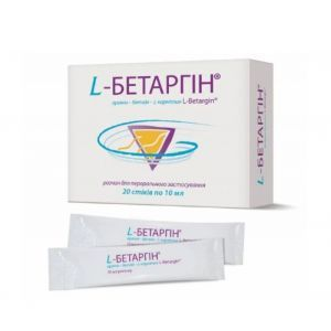 L-Бетаргин раствор, L-Betargin, Alpiflor s.r.l., 20 стиков по 10 мл