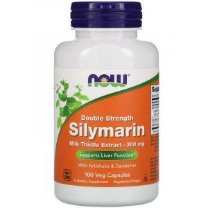 Расторопша, силимарин (Silymarin), Now Foods, 300 мг, 100 вегетарианских капсул