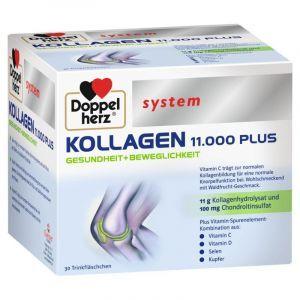 Коллаген 11.000 Плюс, Kollagen 11.000 Plus, Doppelherz System, 30 флаконов (по 25 мл)
