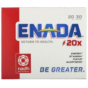 NADH (Mojo), The Energizing Co-enzyme, Co - E1, 20 мг, 30 таблеток