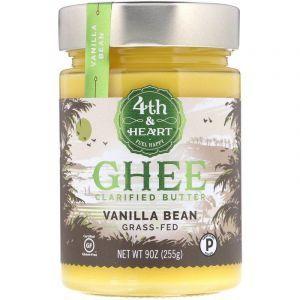 Масло гхи с ванилью, Ghee Butter, 4th & Heart, 225 г