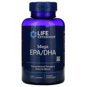 Рыбий жир EPA/DHA, Omega Foundations, Life Extension, 120 капсул