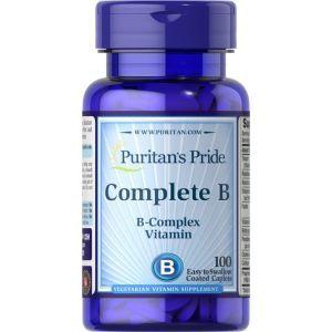 Комплекс витаминов группы В, Complete B, Puritan's Pride, 100 капсул