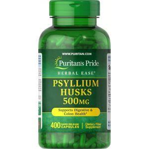 Подорожник шелуха, Psyllium Husks, Puritan's Pride, 500 мг, 400 капсул