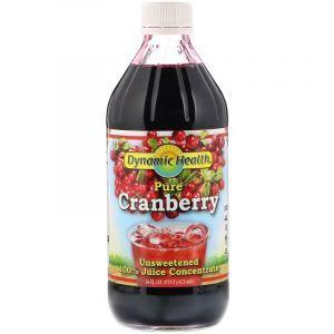 Клюквенный концентрат, Cranberry Juice, Dynamic Health, жидкий, 473 мл