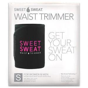 Пояс для похудения, Sweet Sweat Waist Trimmer Belt, Sports Research, размер S, цвет черный и розовый, 1 шт
