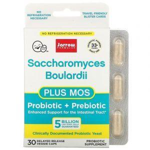 Сахаромицеты буларди, Saccharomyces Boulardii + MOS, Jarrow Formulas, 30 капсу