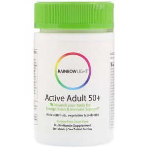 Усиленный комплекс витаминов  50+, Multivitamin, Rainbow Light, 30 таблеток
