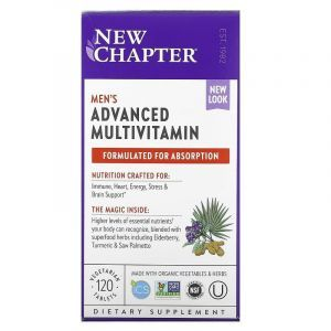 Ежедневные витамины для мужчин, Every Man Multivitamin, New Chapter, 120 таблеток
