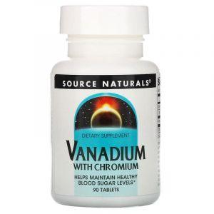 Хром и ванадий, Vanadium with Chromium, Source Naturals, 90 таблеток