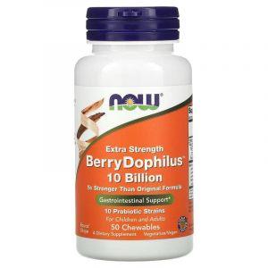Пробиотики (дофилус) вкус ягод, Now Foods, 50 табл.