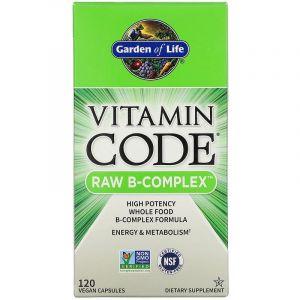 Сырые Витамины, Raw B-комплекс, Garden of Life, Vitamin Code, 120 капсул (Default)