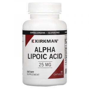 Альфа-липоевая кислота, Kirkman Labs, 25 мг, 90 кап.