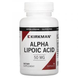 Альфа-липоевая кислота, Alpha Lipoic Acid, Kirkman Labs, 50 мг, 90 капсул (Default)