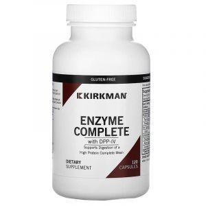 Комплекс ферментов с DPP-IV, Enzyme Complete, Kirkman Labs, 120 капсул