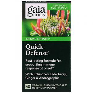 Защита иммунитета, Quick Defense, Gaia Herbs, 40 фито-капсул