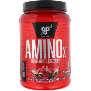 Аминокислоты и ВСАА, арбуз, Amino X, BSN, 1,01 кг.
