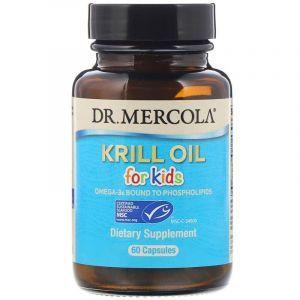 Масло криля для детей, Krill Oil, Dr. Mercola, 60 капсул (Default)