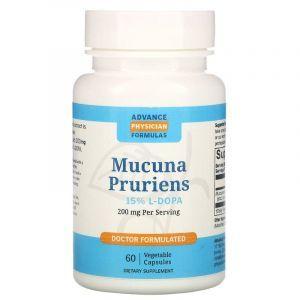 Мукуна пекуча (капікачху), Mucuna, Advance Physician Formulas, 200 мг, 60 вегетаріанських капсул
