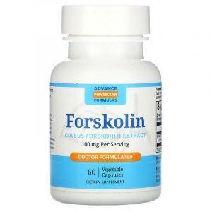 Форсколин, Forskolin, Advance Physician Formulas, 100 мг, 60 вегетаріанських капсул