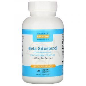 Фітостероли, Beta Sitosterol, Advance Physician Formulas, 400 мг, 90 вегетаріанських капсул