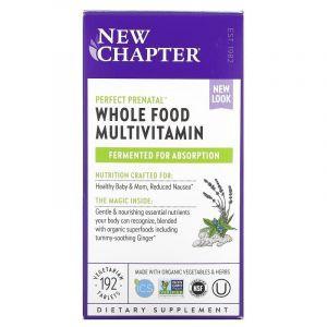 Вітаміни для вагітних, Prenatal Multivitamin, New Chapter, 192 таблетки