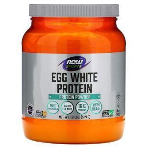 Яєчний протеїн, Eggwhite Protein, Now Foods, Sports, 544 г