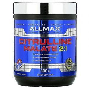 Цитрулін малат, Citrulline Malate, ALLMAX Nutrition, без ароматизаторів, 300 г
