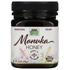 Манука мед, Manuka Honey, Now Foods, Real Food, MGO 250, 250 г
