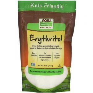 Эритритол (сахарозаменитель),  Erythritol, Now Foods, Real Food, 454 г